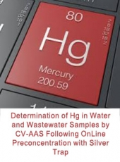Determination of Hg in Water and Wastewater Samples by CV-AAS Following OnLine Preconcentration with Silver Trap