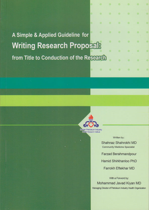 writing research proposal: from Title to Conduction of the Research